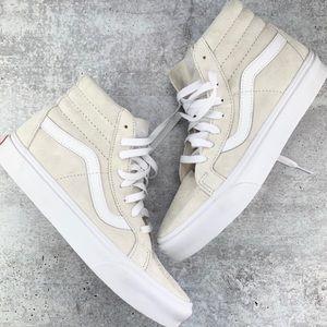 🆕 Vans Sk8 Hi Classic Skateboard Cream/WHT Shoes
